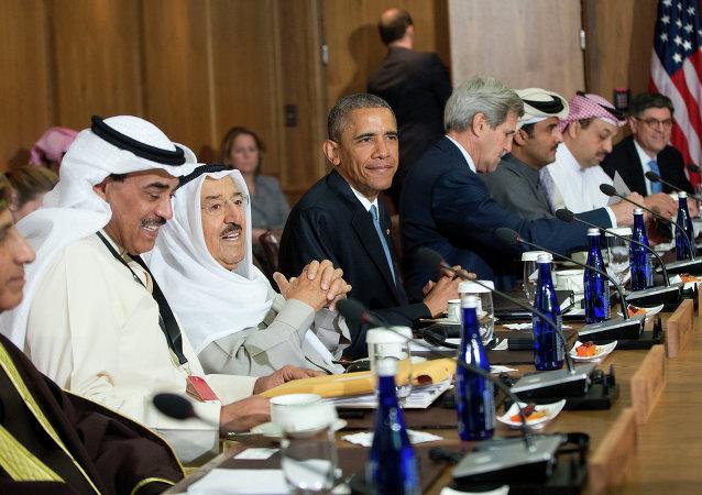 Barack Obama, presidente de EEUU, durante una reunión con los líderes del CCEAG