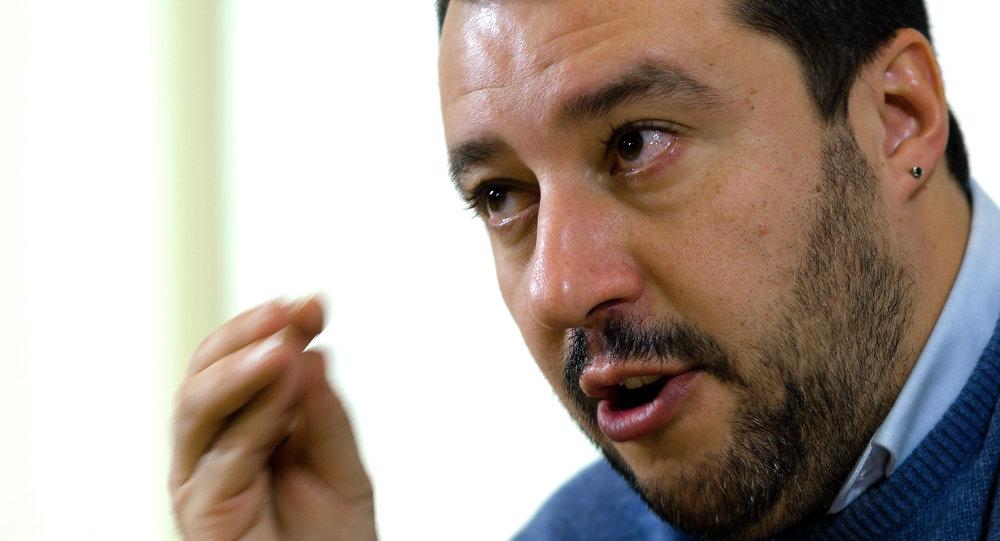 Matteo Salvini, líder del partido italiano de derechas Liga Norte