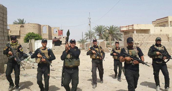 Los soldados iraquíes en la ciudad de Amiriyat Faluya, 8 de mayo 2015
