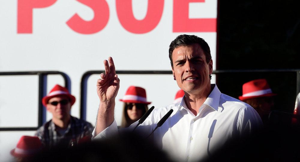 El secretario general de los socialistas españoles (PSOE), Pedro Sánchez