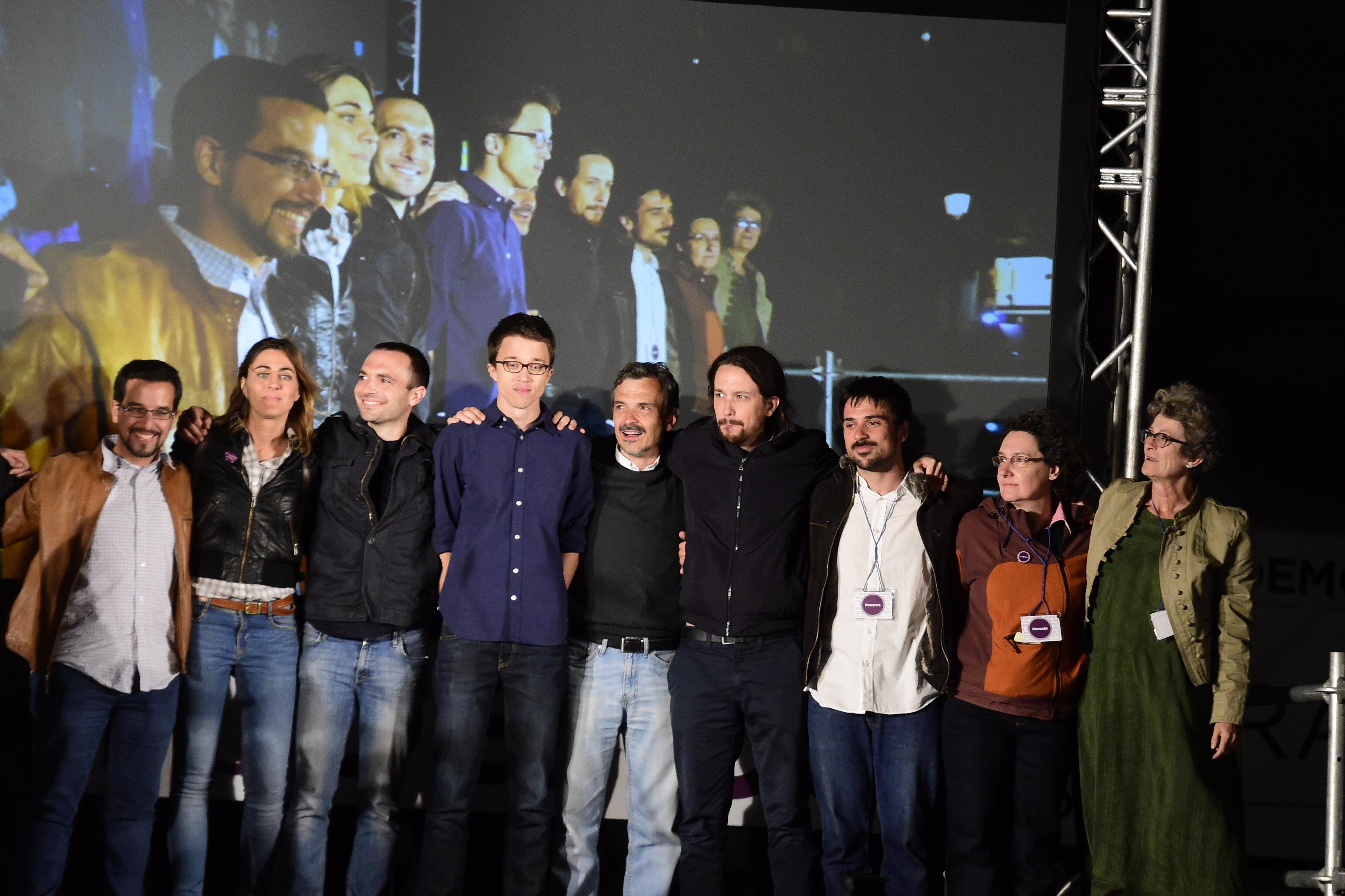 Los miembros de Podemos