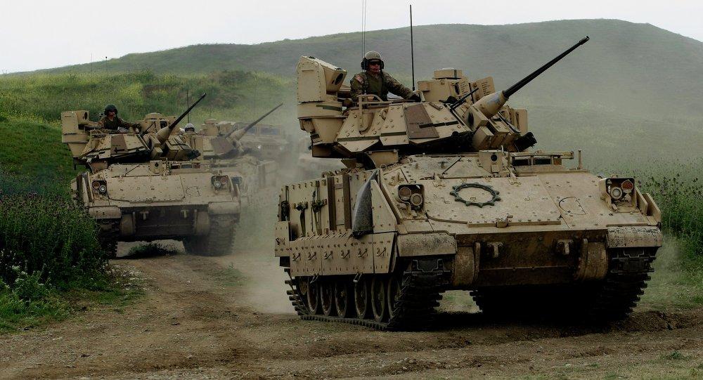 Soldados estadounidenses durante las maniobras de la OTAN en Georgia