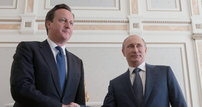 Primer ministro del Reino Unido, David Cameron, y presidente de Rusia, Vladímir Putin