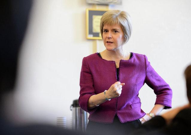 Nicola Sturgeon, primera ministra escocesa y líder del Partido Nacionalista Escocés (SNP)