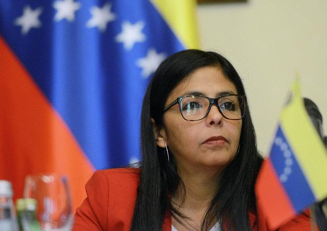 Delcy Rodríguez, ministra de Relaciones Exteriores de Venezuela