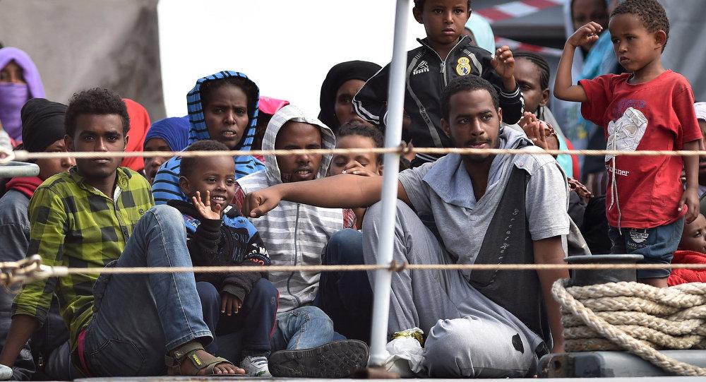 Migrantes africanos en Italia (archivo)
