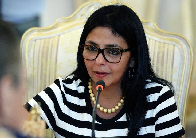 Delcy Rodríguez, ministra de Relaciones Exteriores de Venezuela, en Moscú