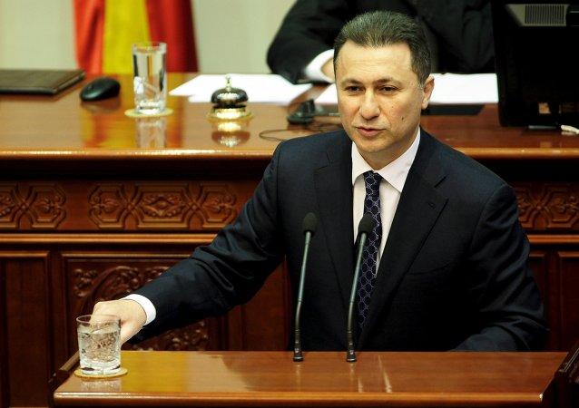 Nikola Gruevski, primer ministro de Macedonia