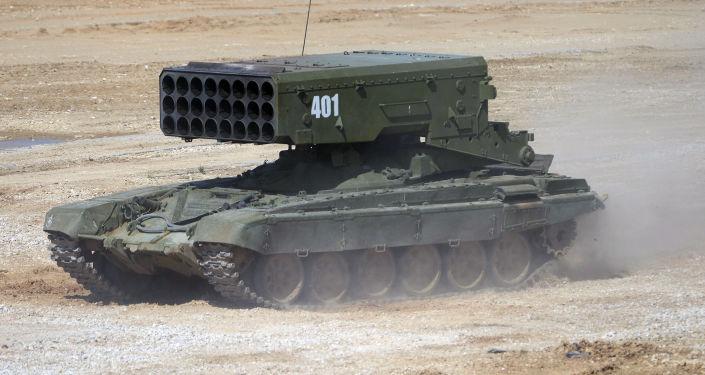 Sistema lanzallamas pesado TOS-1A Solntsepiok