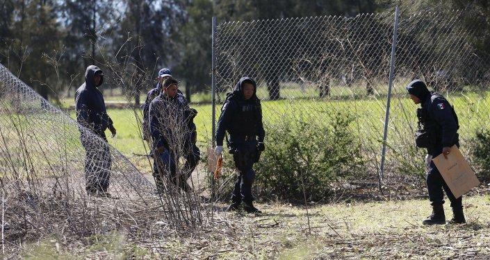 Policías mexicanos en Michoacán