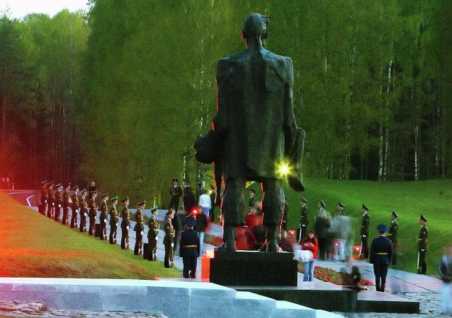 El complejo memorial de Jatín recuerda a las víctimas del nazismo en Bielorrusia