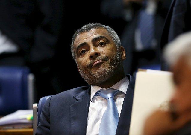 Romario da Souza Faria, exjugador de fútbol y senador del Partido Socialista de Brasil (PSB)