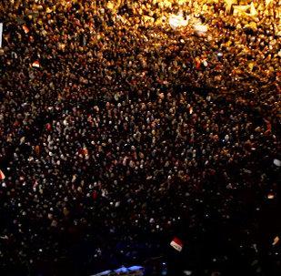 Демонстранты в Каире