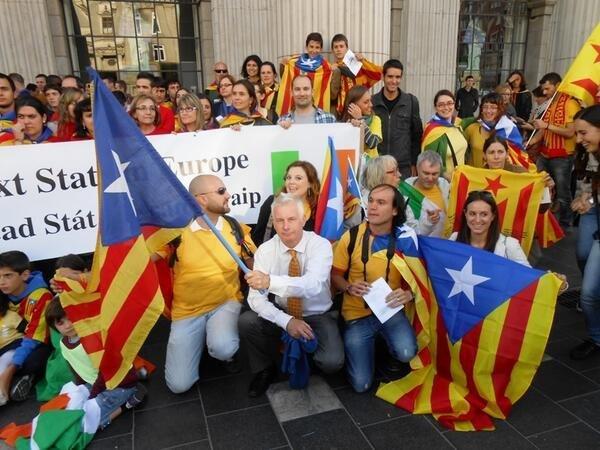 Seán Crowe en el evento Catalan Human Chain en septiembre 2013