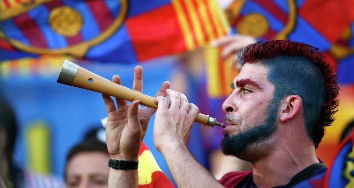 Los aficionados del Barça (archivo)