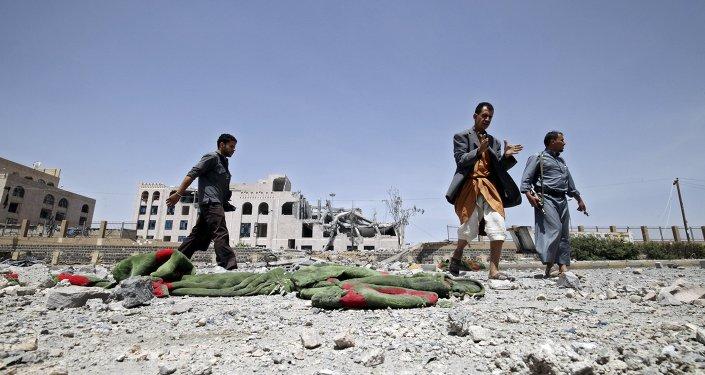 Militantes del grupo de los hutíes