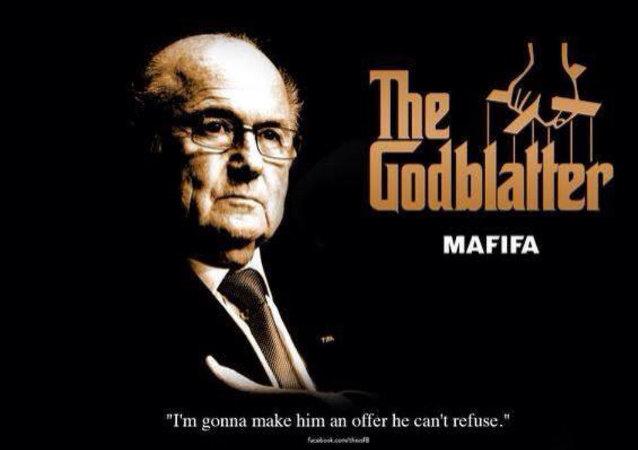 Un meme de dimisión de Blatter