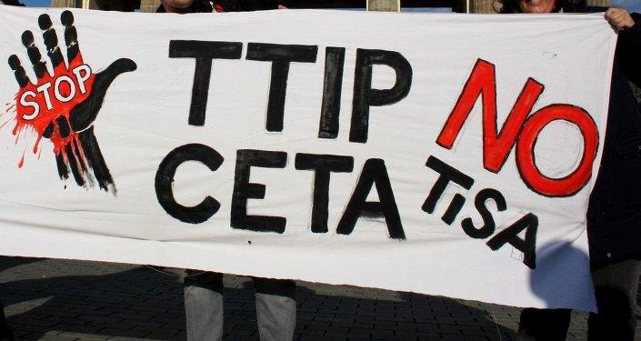 Manifestación contra TiSA, TTIP y CETA