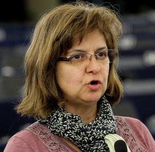 Paloma López, eurodiputada por Izquierda Unida (IU)