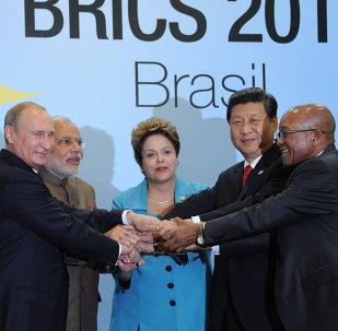 Líderes del BRICS en Fortaleza (Brasil)