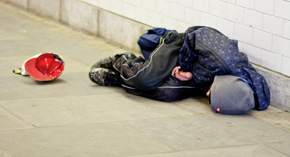 Hombre sin hogar (imagen referencial)