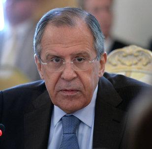 Serguéi Lavrov, jefe del Ministerio de Relaciones Exteriores de Rusia.