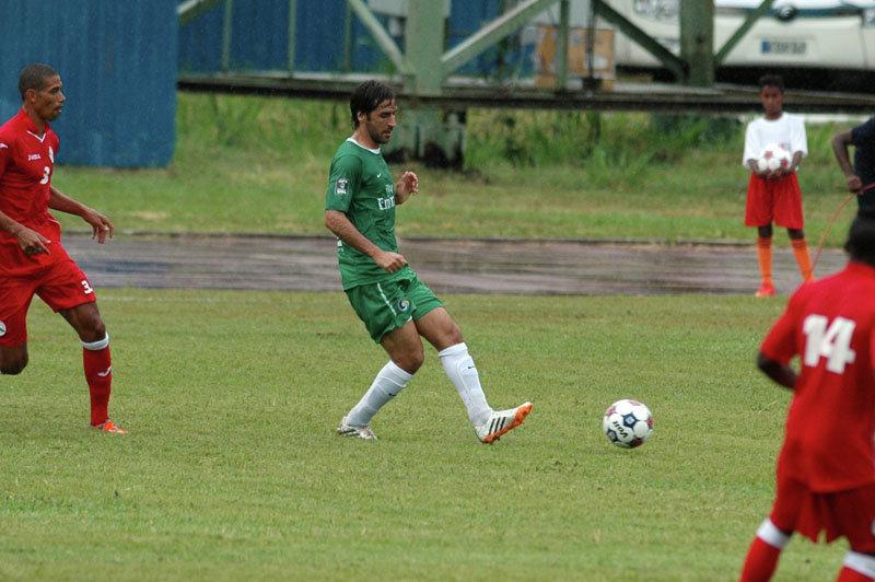 Futbolistas del equipo nacional de Cuba y de New York Cosmos