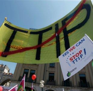 Manifestación contra TTIP