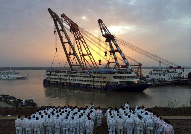 Estrella del Oriente, buque naufragado en el río Yangtsé en China