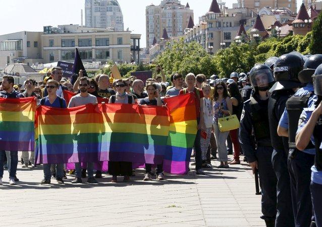 Marcha gay en Kiev