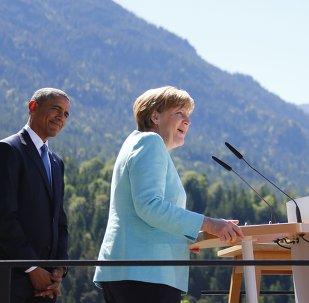 Barack Obama y Angela Merkel