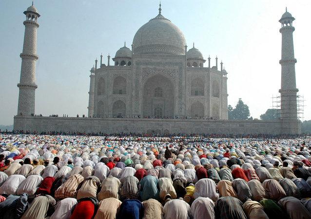 Ell Taj Majal, en Agra (la India)