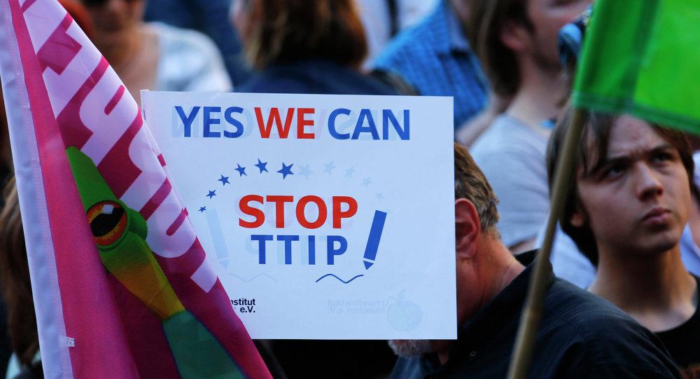Manifestación contra TTIP en Alemania (Archivo)