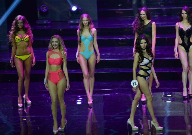 Las participantes del concurso Miss Moscú-2015