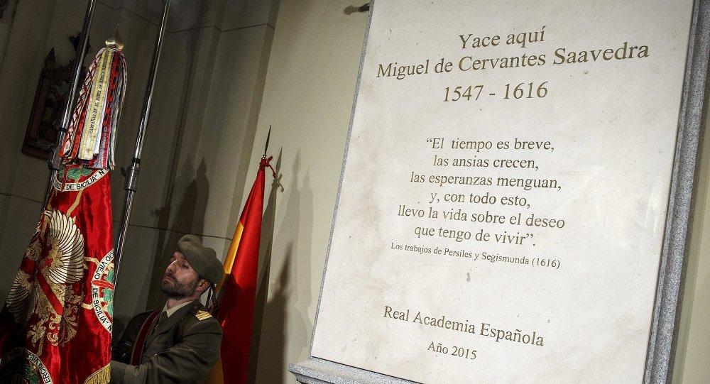 Monumento de Miguel Cervantes en Madrid