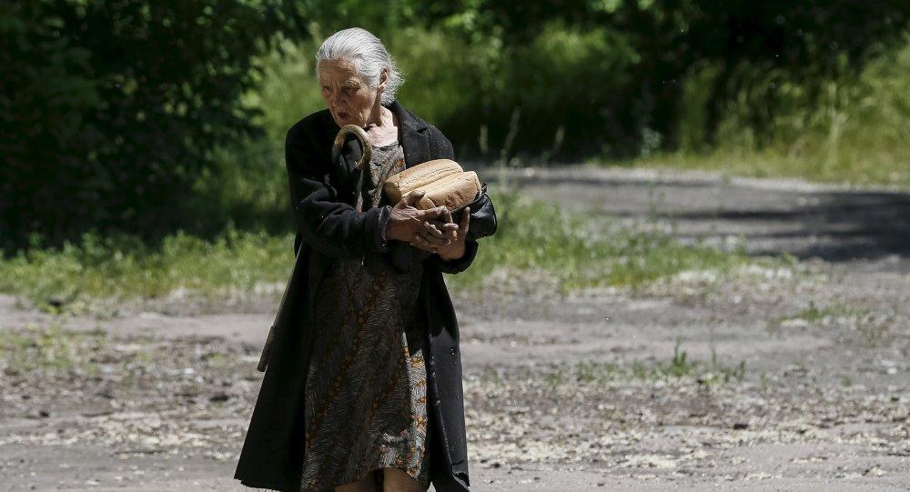 Una habitante de Donbás