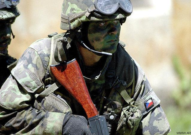 Un soldado checo