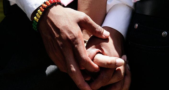 Ceremonia de la boda gay simbólica en Lima