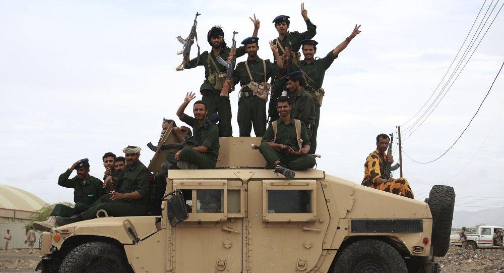 Tropas leales al presidente Abdo Rabu Mansur Hadi