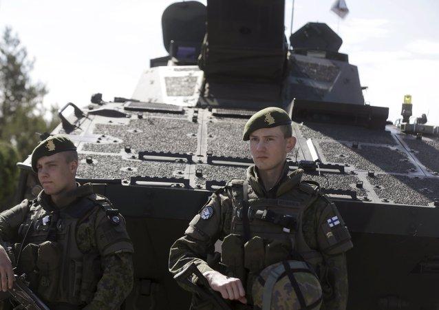 Soldados del Ejército de Finlandia (archivo)