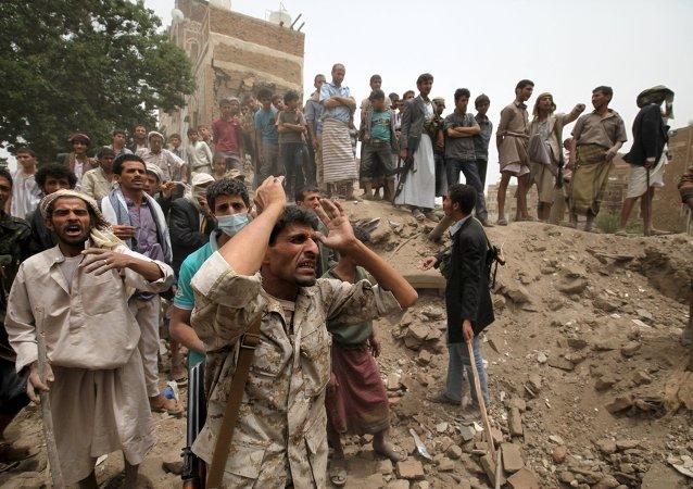 Situación en Sanaa, Yemen, el 12 de junio, 2015