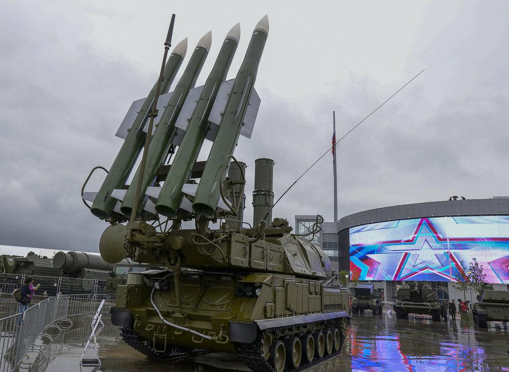 Sistema Buk-1M en Kúbinka, en las afueras de Moscú