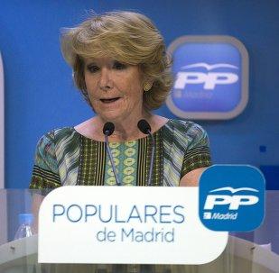 Esperanza Aguirre, presidenta del Partido Popular