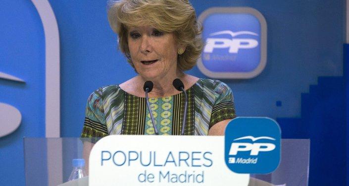 Esperanza Aguirre, portavoz del Partido Popular en Madrid (archivo)