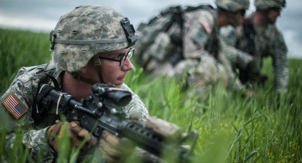 Soldados estadounidenses en Kosovo