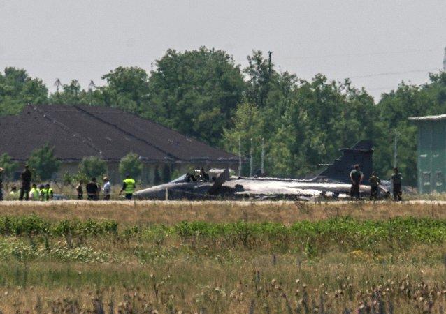 Hace unos días ocurrió un accidente cuando un avión Saab JAS-39 Gripen realizó un aterrizaje de emergencia