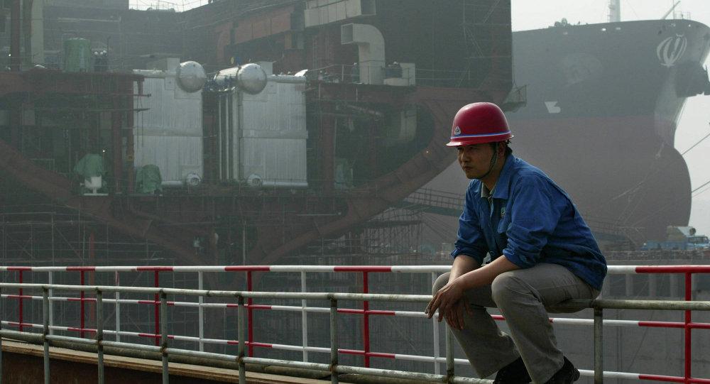Astillero en el norte de China