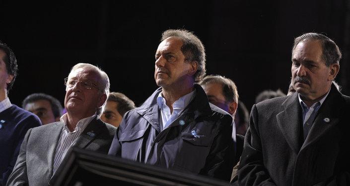 Candidato a la presidencia de Argentina Daniel Scioli