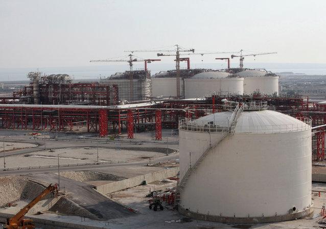 Una refinería de gas en Irán