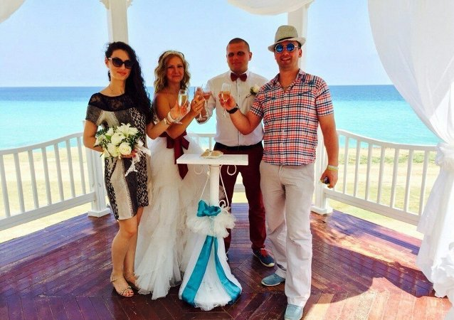La boda de Irina Zharénova y el Pável Gúbich